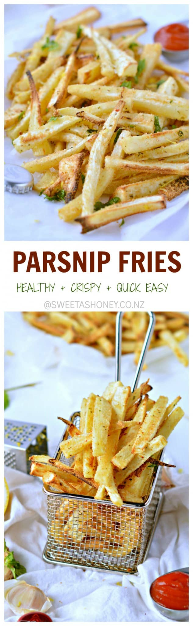 baked parsnip fries