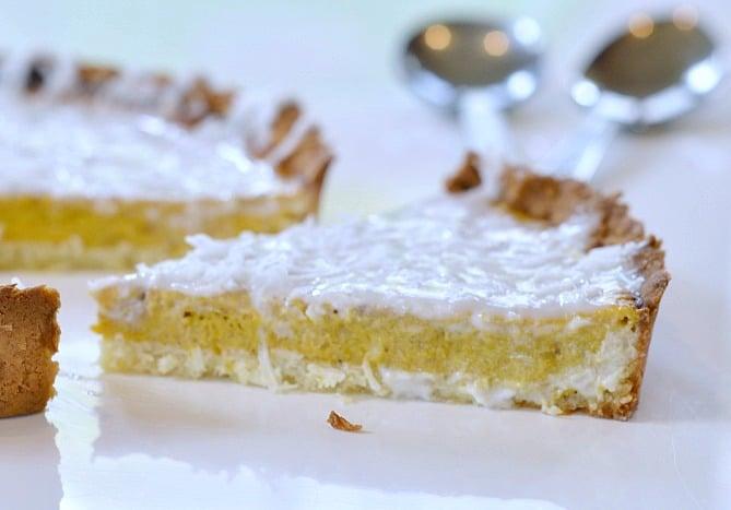 Sugar Free Pumpkin Pie with Coconut Frosting