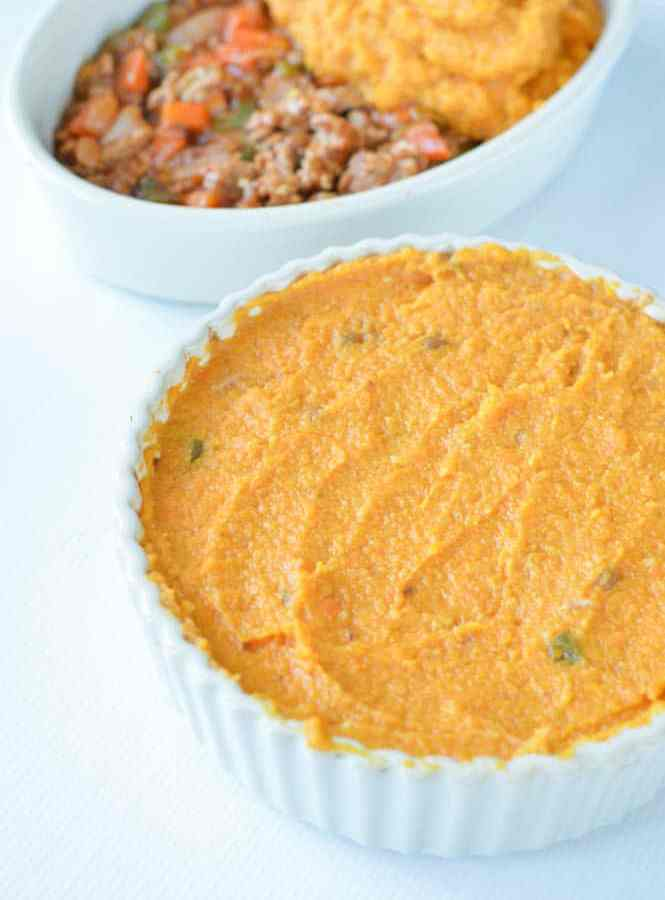 Sweet Potatoes Turkey Shepherd's Pie with Lentils