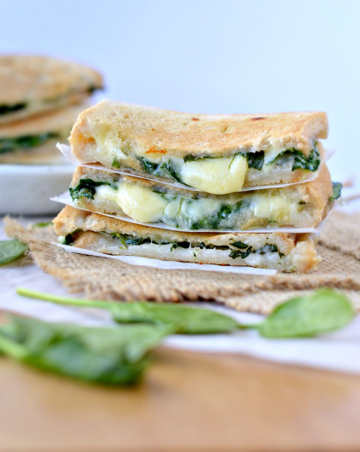 Spinach Grilled Cheese Sandwich recipe