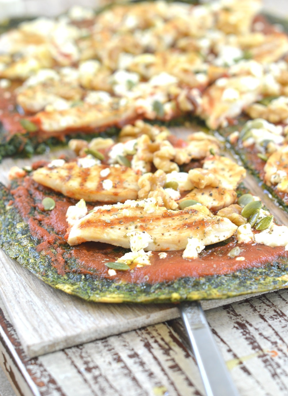 Spinach Pizza Crust Low Carb Crust