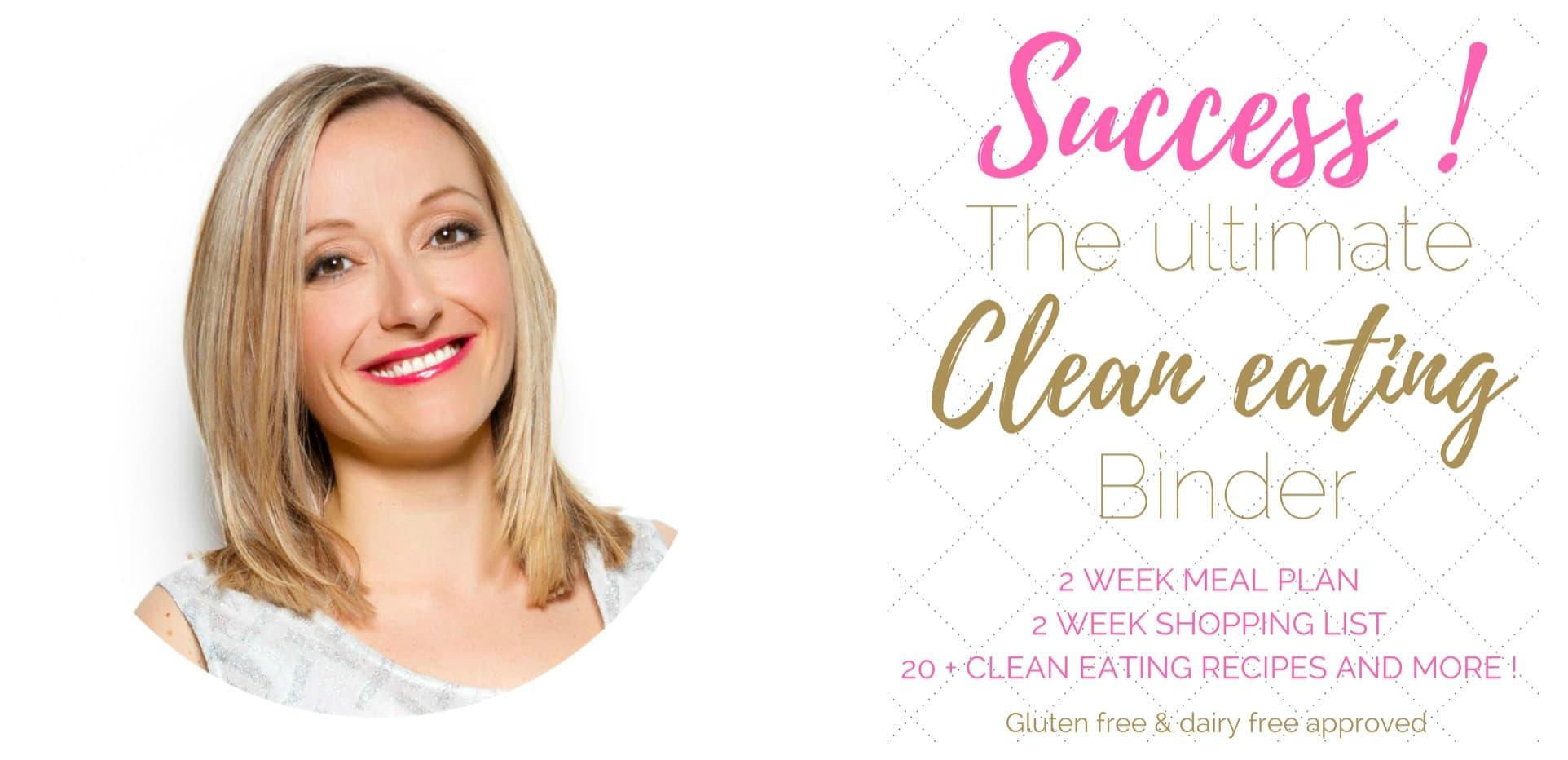 email banner buy clean eating binder