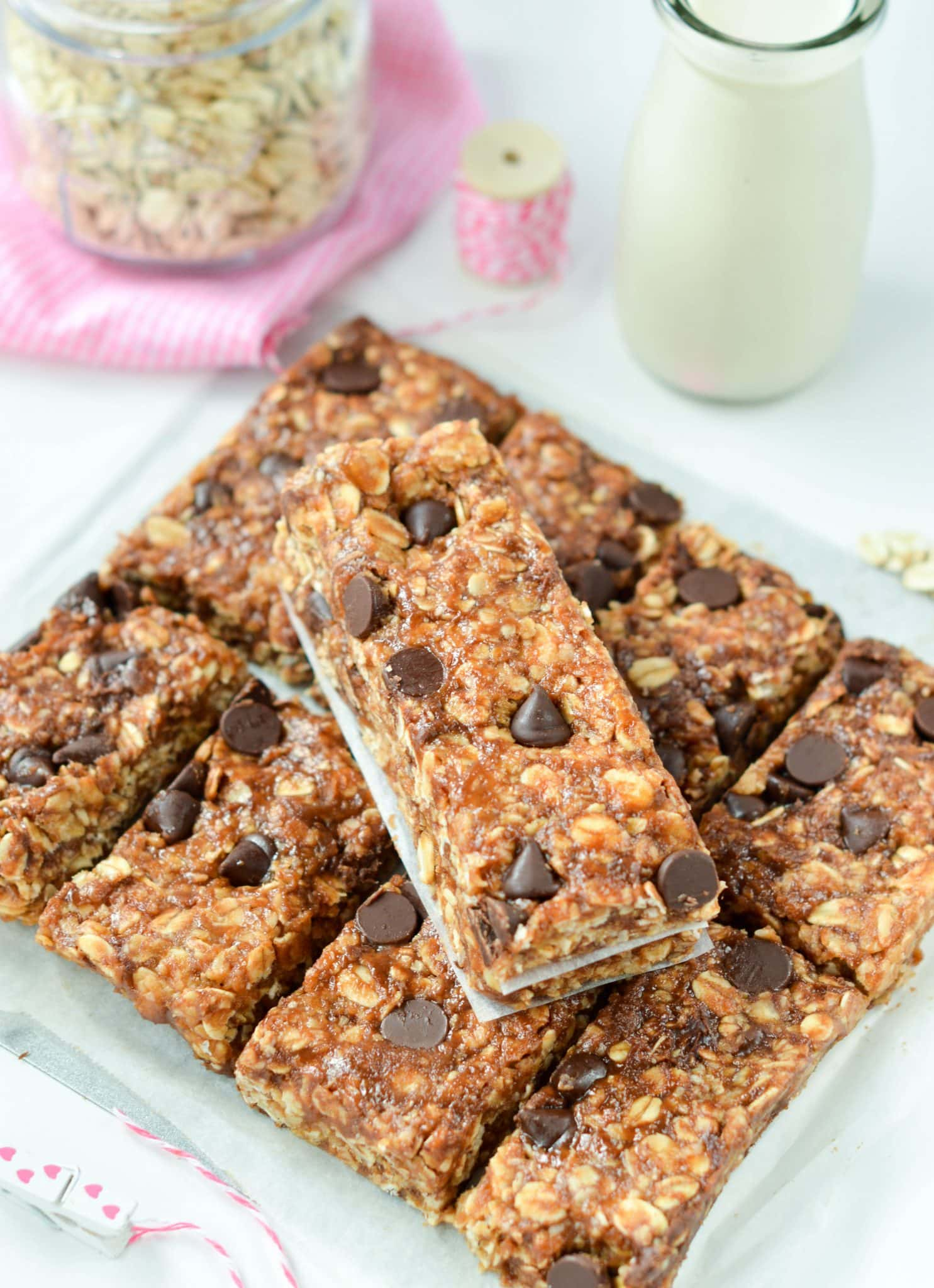No Bake Peanut Butter Oatmeal Protein Bars