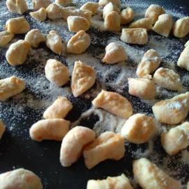 chickpeas gnocchi dough