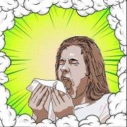 Graphic of sneezing