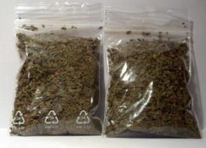 kratom in 2 plastic bags