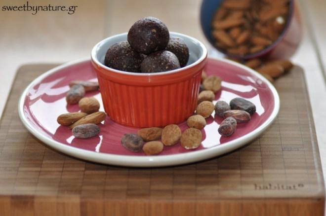 Ενεργειακές τρούφες σοκολάτας_general view
