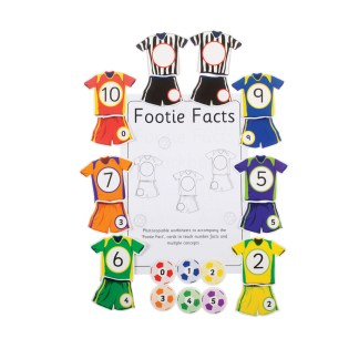 Footie Facts, pack of 5
