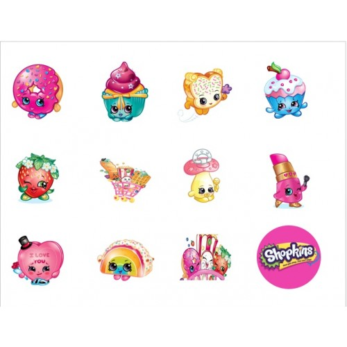 Cupcake Toppers Shopkins