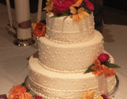 Fall theme Wedding cake
