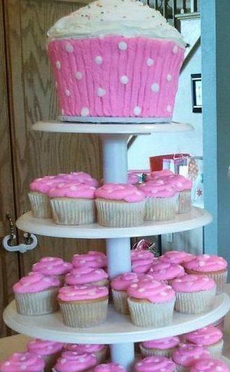 Giant Cupcake cake display