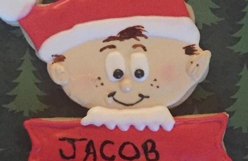 elf cutout cookie