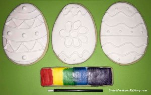 Paint-it-Yourself Easter Egg Cookies