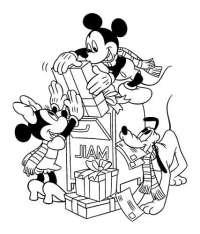 Coloriage De Mickey Noel Coloriage Mickey Imprimer