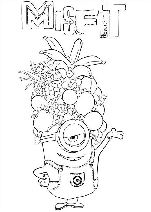 Coloriage et dessin de minion  Moi moche et mchant