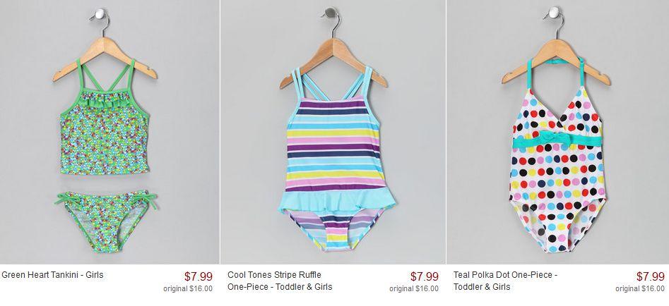 7dbc27d77c Zulily Summer Savings  Deals on Girls Swimsuits