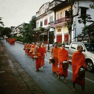Morning alms in Luang Prabang