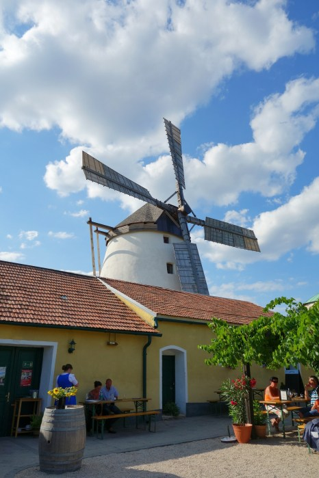 "The wind mill with attached ""Heurigen"""