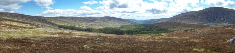 Panorama of the Wicklow mountains