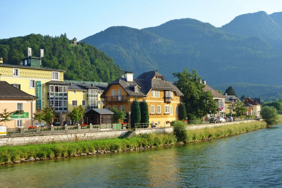 Bad Ischl and Traun River