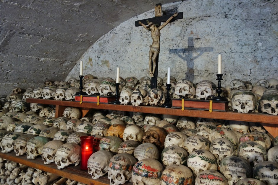 Inside the charnel house, Hallstatt