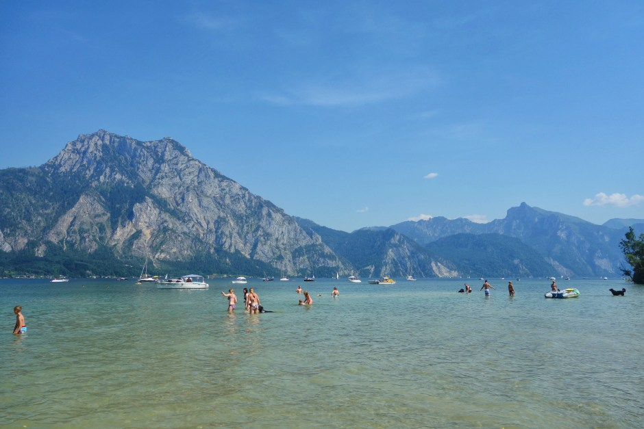 A last swim in the Traunsee