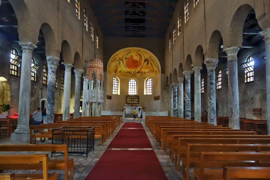 Inside the Basilica St. Eufemia