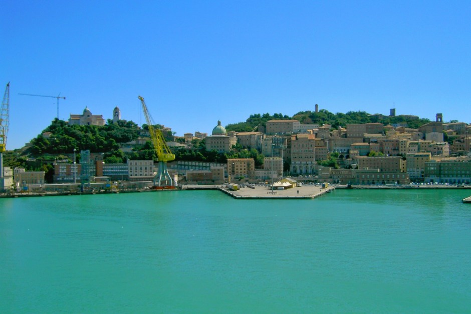 Arriving in Ancona, Italy