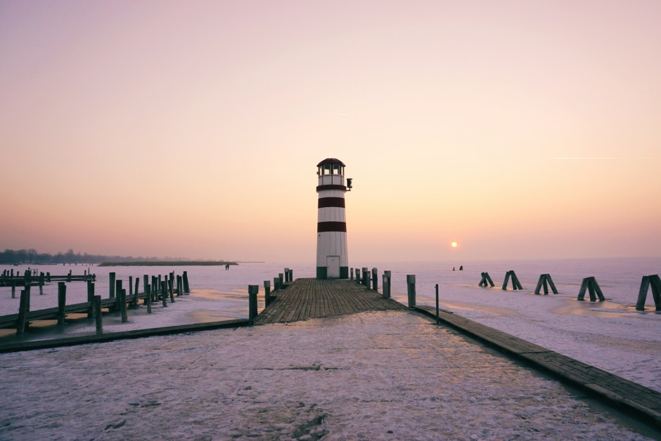 frozen lake Neusiedl