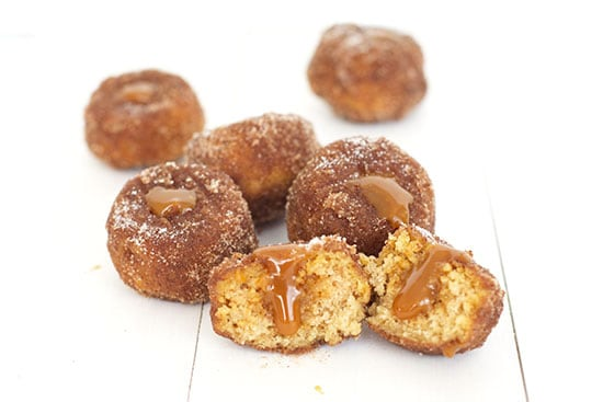 Caramel Stuffed Donut Holes