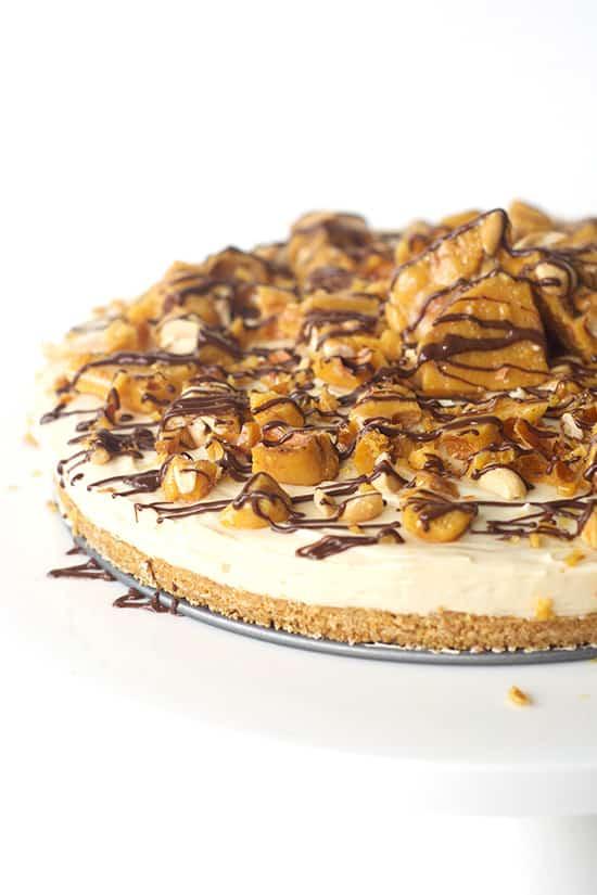 No Bake Caramel Cheesecake