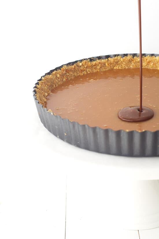 Chocolate Caramel Pretzel Tart