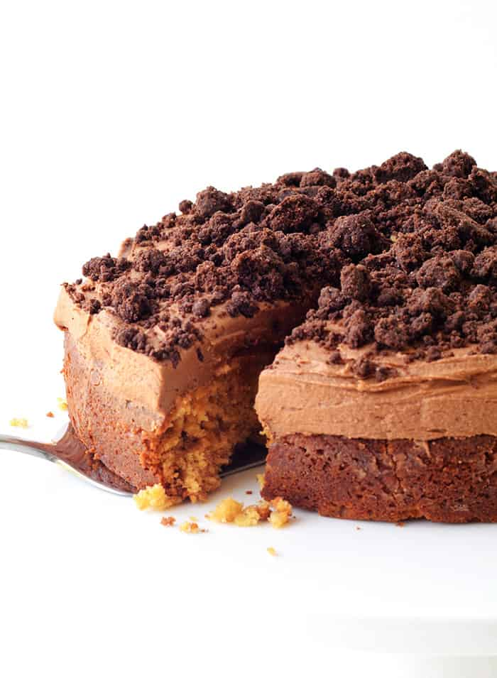 Chocolate Peanut Butter Poke Cake Tasty