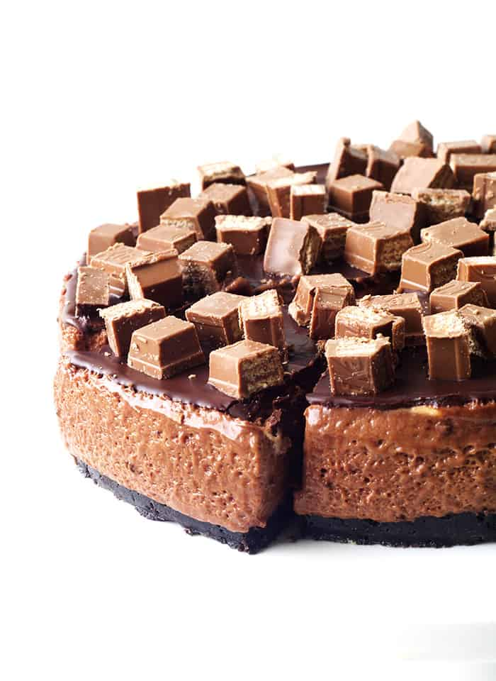 No Bake Chocolate Marshmallow Mousse Cake - Sweetest Menu