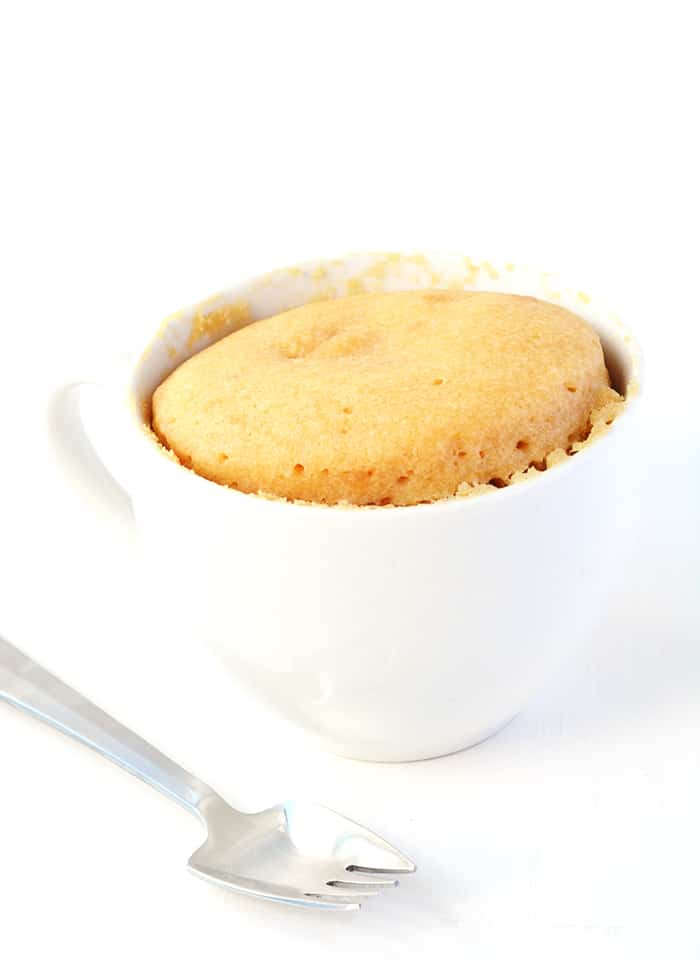 Peanut Butter And Jelly Cake In A Mug