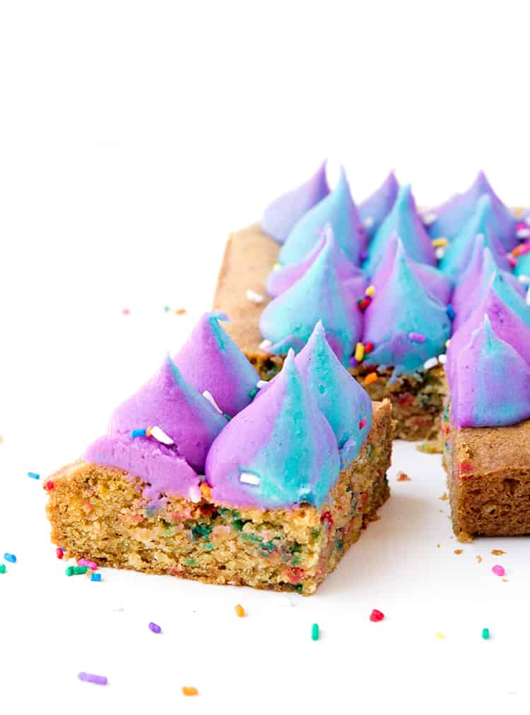 Unicorn Funfetti Cookie Bars Sweetest Menu
