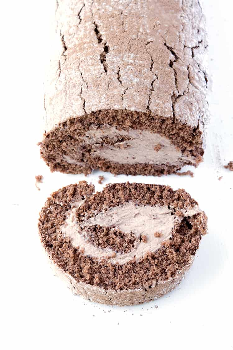 Chocolate Cake Roll - Sweetest Menu