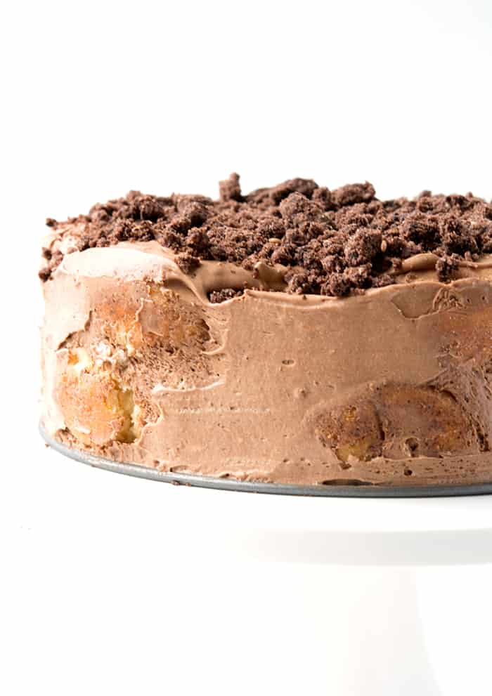 Chocolate Cinnamon Donut Icebox Cake
