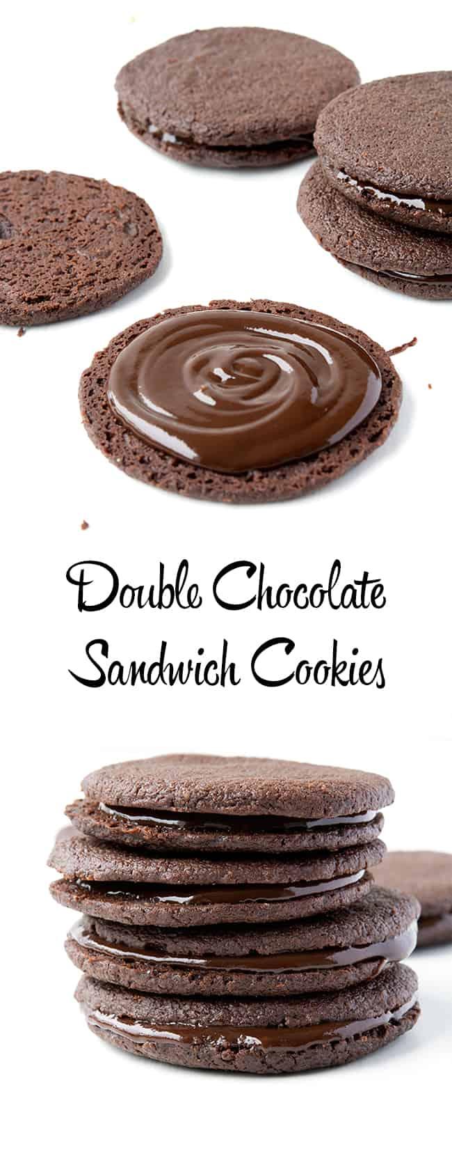 Double Chocolate Sandwich Cookies | Sweetest Menu