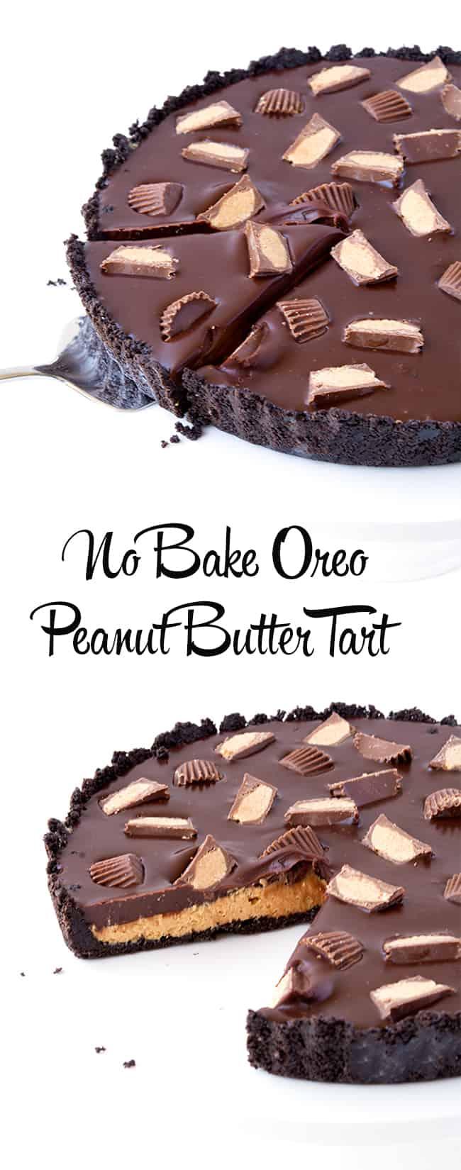 No Bake Oreo Peanut Butter Tart | sweetest menu