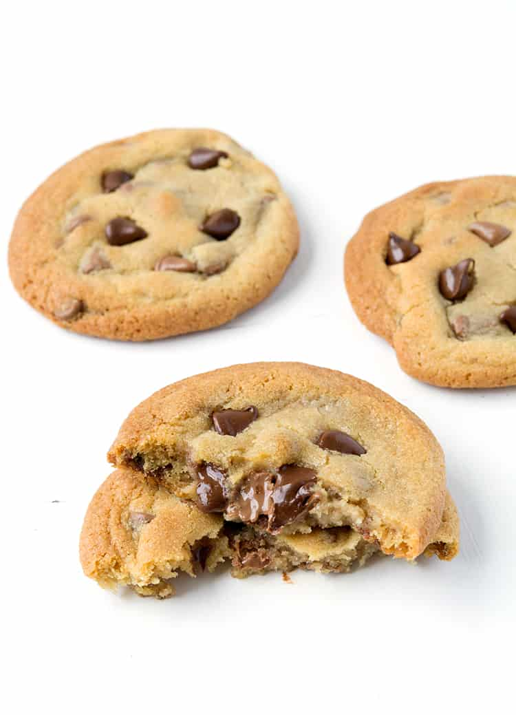 Cookie Dough Stuffed Chocolate Chip Cookies