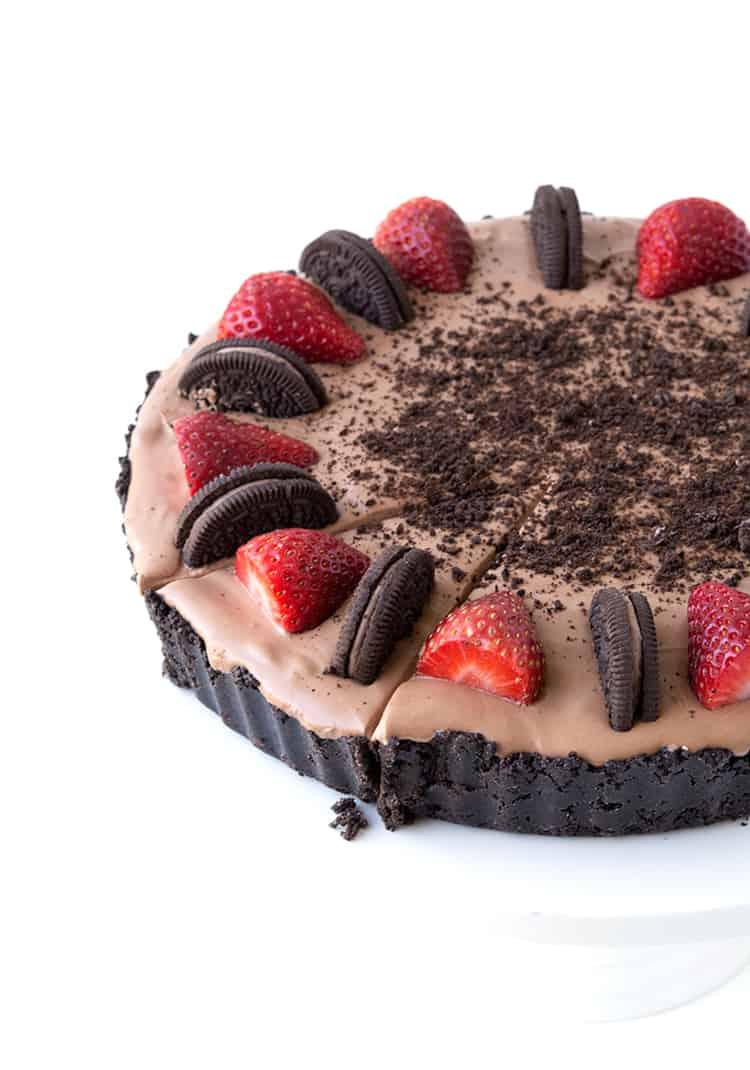 No Bake Strawberry Chocolate Pie   Sweetest Menu