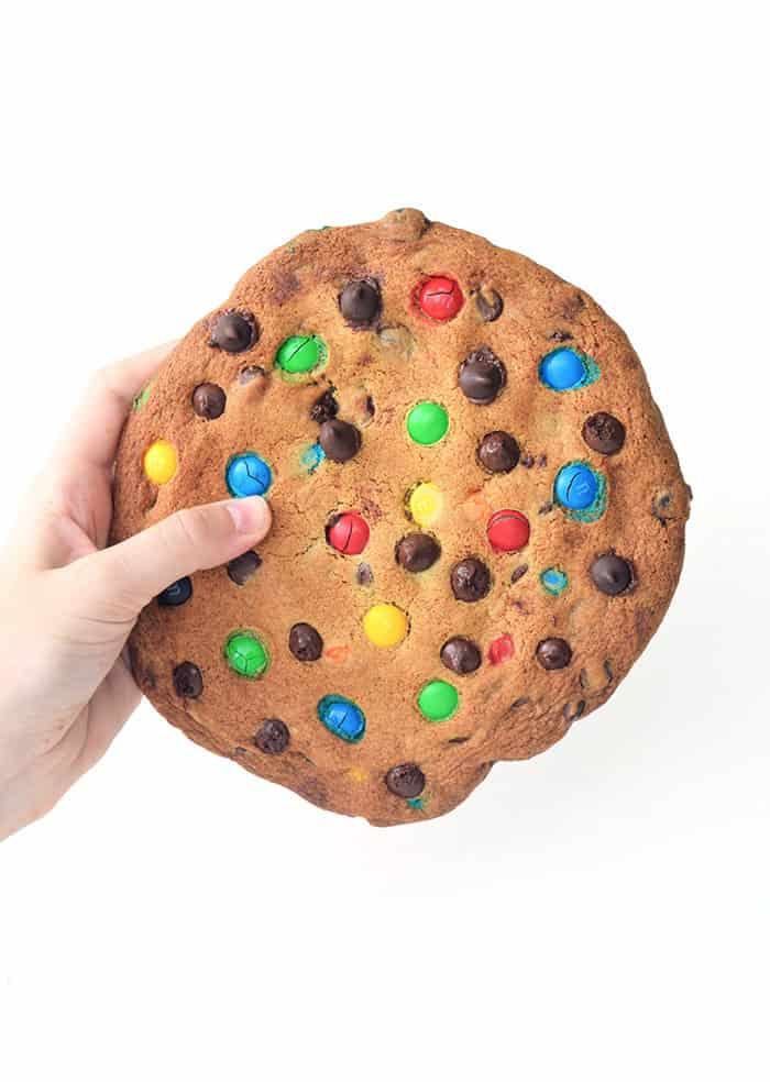 One Giant M&M Chocolate Chip Cookie (Video) - Sweetest Menu