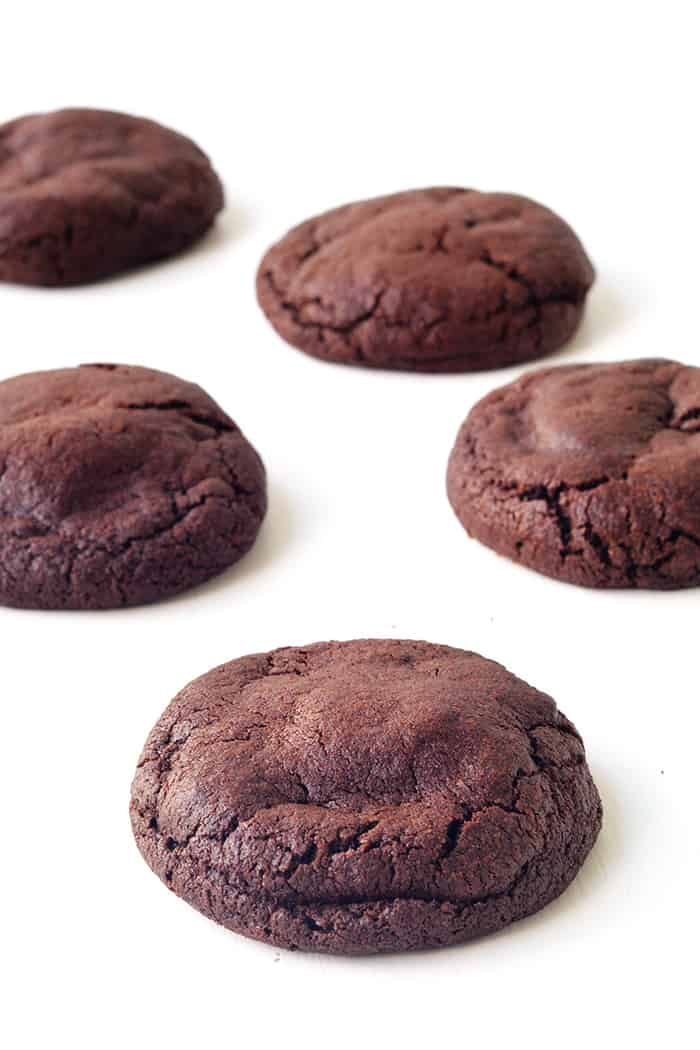 Nutella Stuffed Chocolate Cookies - Sweetest Menu