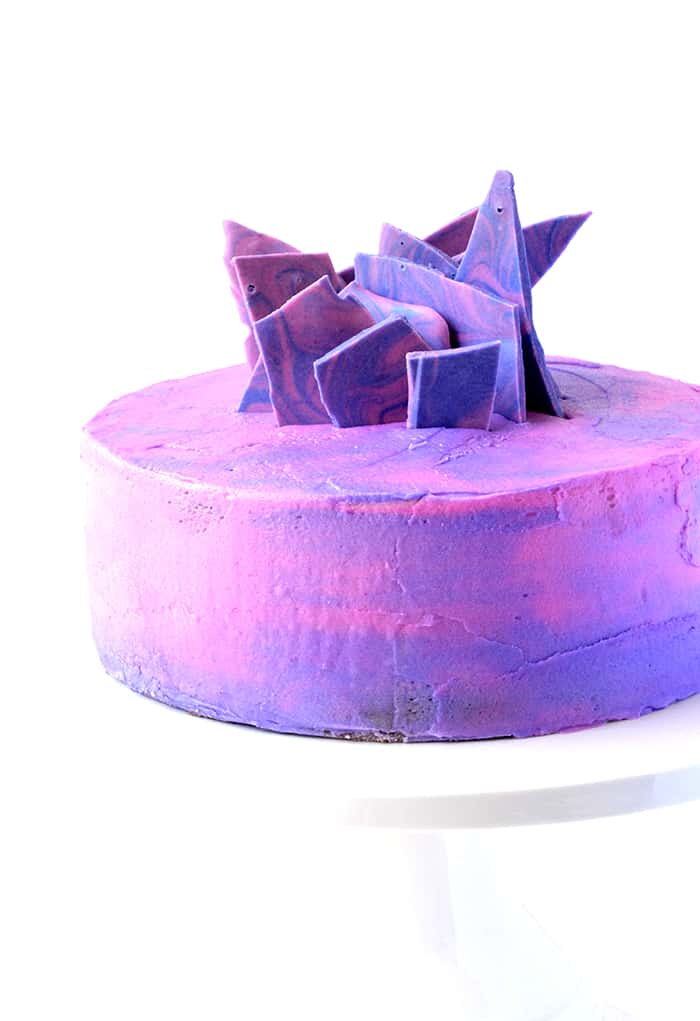 Purple Marble Vanilla Layer Cake Sweetest Menu