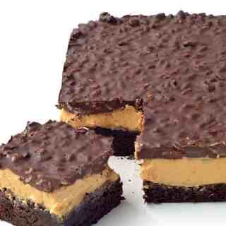 Peanut Butter Chocolate Brownie Crunch Bars