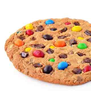One Giant M&M Monster Cookie