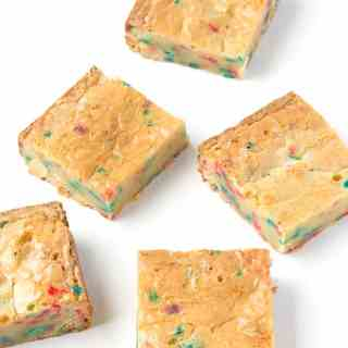 Funfetti White Chocolate Brownies