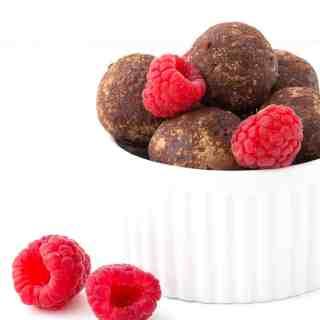 Chocolate Raspberry Bliss Balls (Video)