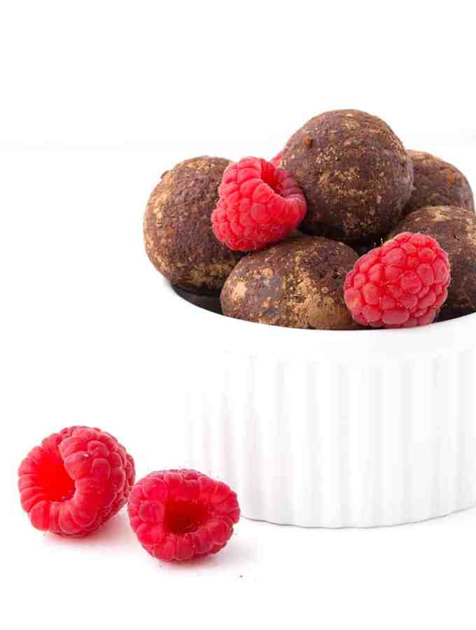 Chocolate Raspberry Bliss Balls | Sweetest Menu